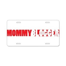 Mommy Blogger, Red, Mommy Blog Aluminum License Pl