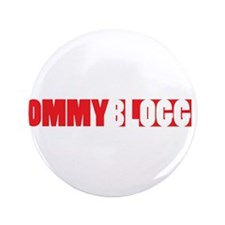 """Mommy Blogger, Red, Mommy Blog 3.5"""" Button"""