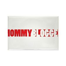 Mommy Blogger, Red, Mommy Blog Rectangle Magnet