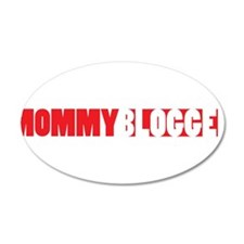 Mommy Blogger, Red, Mommy Blog Wall Decal