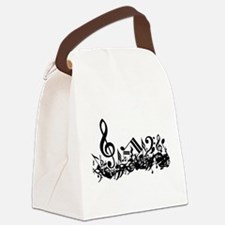Black Musical Notes.png Canvas Lunch Bag