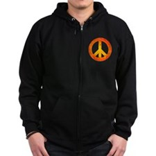 Peace on Fire Zip Hoodie