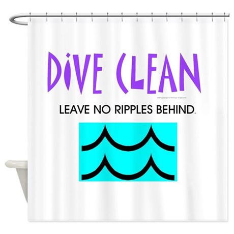Dive Clean Shower Curtain by limitlesspos