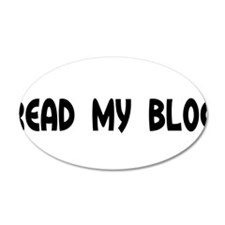 Read My Blog Round Daddy Blog Wall Decal