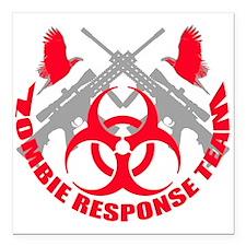 "Zombie Response Team r Square Car Magnet 3"" x 3"""