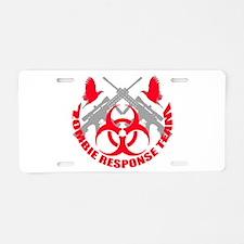 Zombie Response Team r Aluminum License Plate