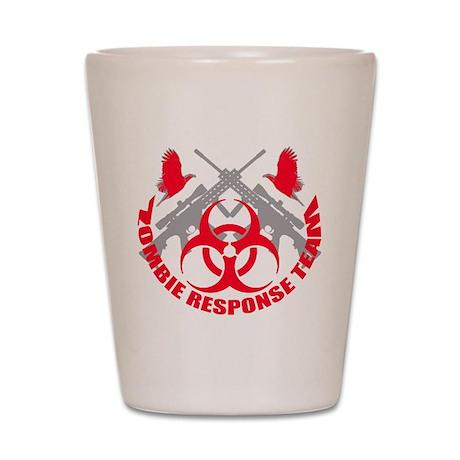 Zombie Response Team r Shot Glass