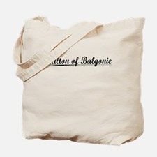 Milton of Balgonie, Aged, Tote Bag