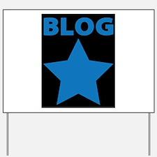 Blog Star Blue - Mommy Blog - Daddy Blog Yard Sign