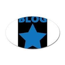 Blog Star Blue - Mommy Blog - Daddy Blog Wall Decal