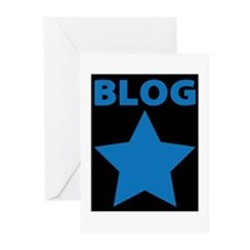 Blog Star Blue - Mommy Blog - Daddy Blog Greeting