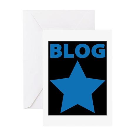 Blog Star Blue - Mommy Blog - Daddy Blog Greeting
