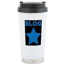 Blog Star Blue - Mommy Blog - Daddy Blog Travel Mug