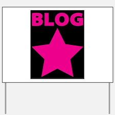 Blog Star Pink - Mommy Blog - Daddy Blog Yard Sign