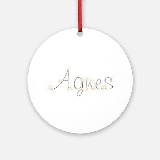 Agnes Spark Round Ornament