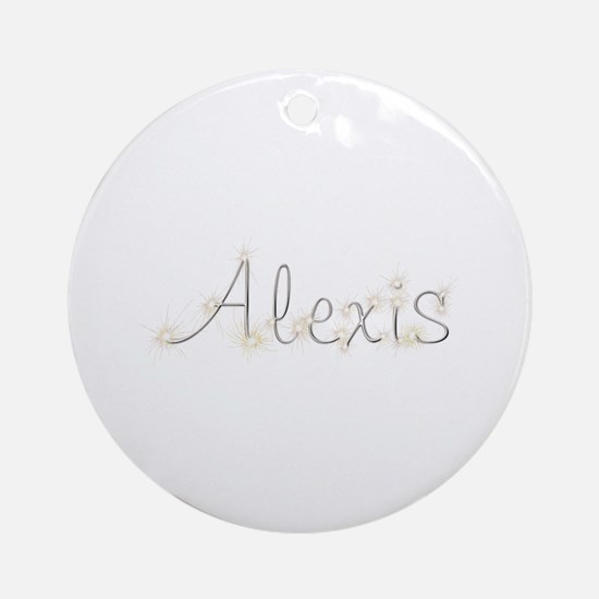 Alexis Spark Round Ornament