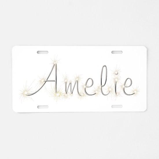 Amelie Spark Aluminum License Plate