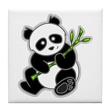 Sitting Panda Bear Tile Coaster