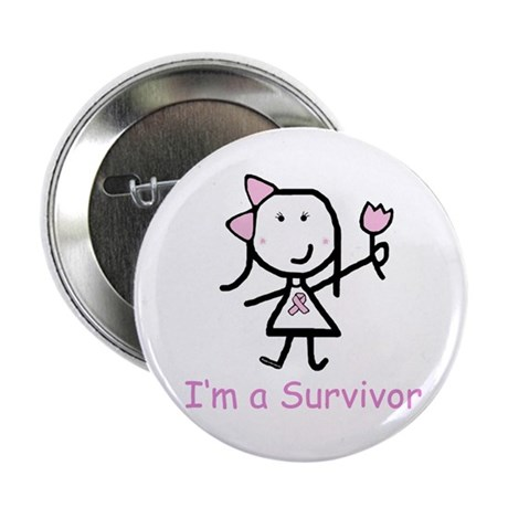 Pink Ribbon - Survivor Button