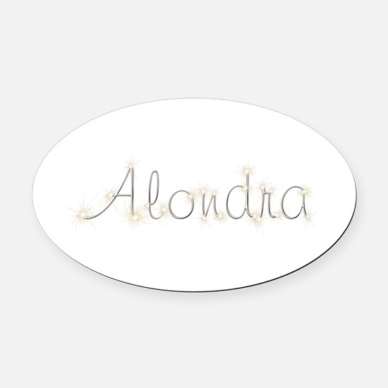 Alondra Spark Oval Car Magnet