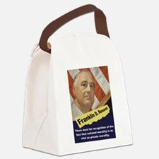 There Must Be Recognition - FDR Canvas Lunch Bag