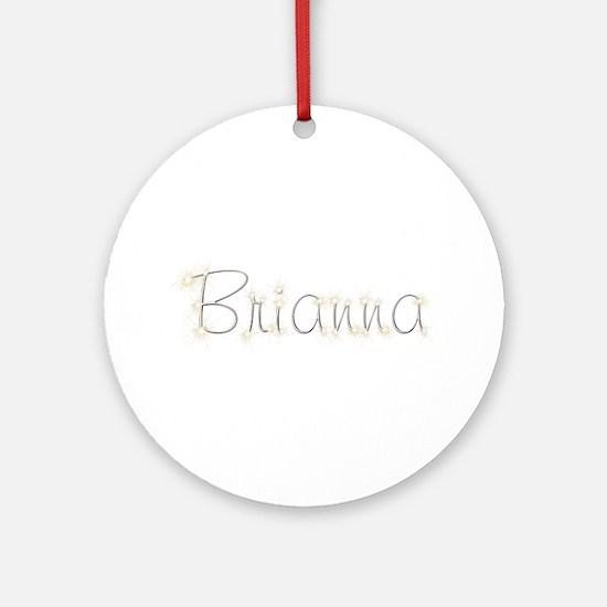Brianna Spark Round Ornament