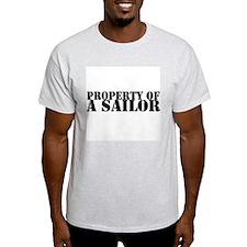 Property of a Sailor Ash Grey T-Shirt