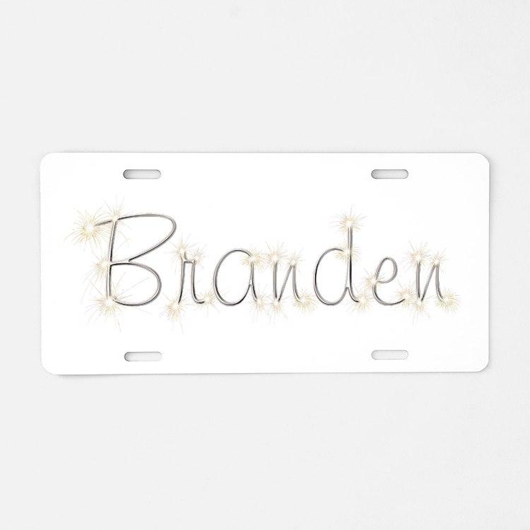 Branden Spark Aluminum License Plate