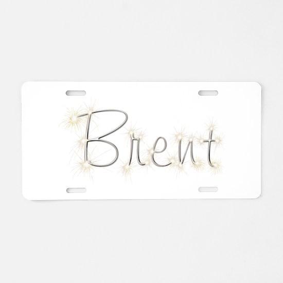 Brent Spark Aluminum License Plate