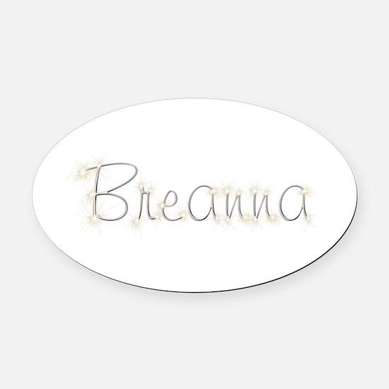 Breanna Spark Oval Car Magnet