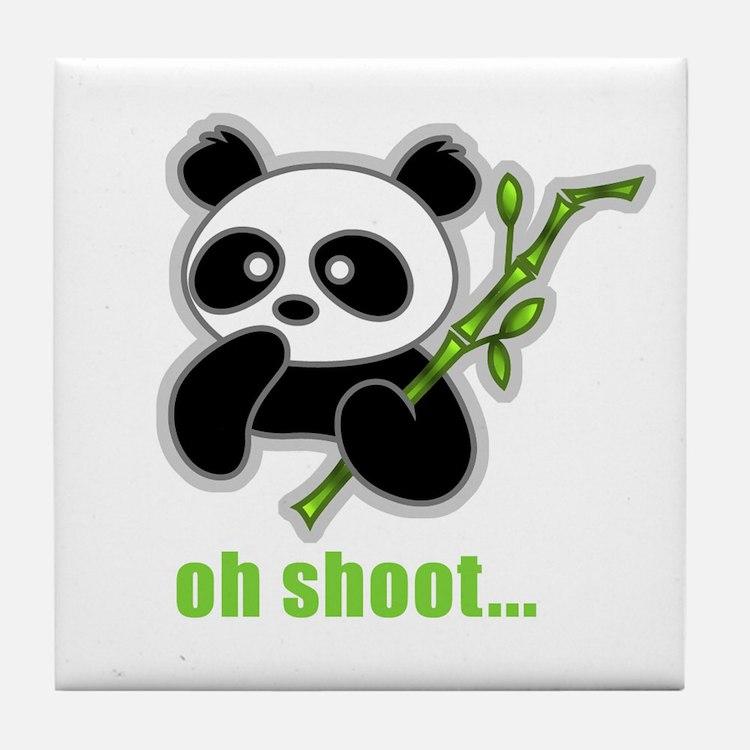 Oh Shoot! Panda Tile Coaster