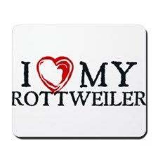 I Heart My Rottweiler Mousepad