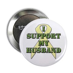 I Support My Husband Button
