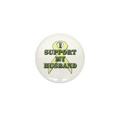 I Support My Husband Mini Button (100 pack)