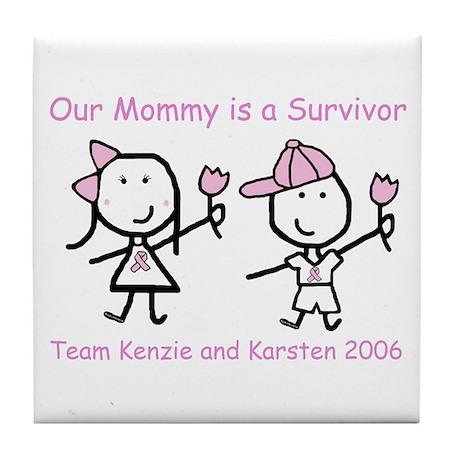 Pink Ribbon - Kenzie & Karsten Tile Coaster