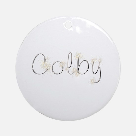Colby Spark Round Ornament
