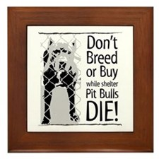Pit Bulls: Don't Breed Framed Tile