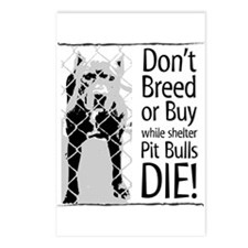 Pit Bulls: Don't Breed Postcards (Package of 8)