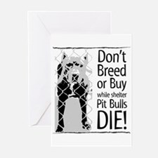 Pit Bulls: Don't Breed Greeting Cards (Package of
