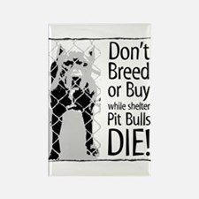 Pit Bulls: Don't Breed Rectangle Magnet (100 pack)