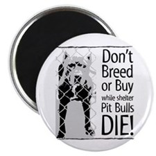 """Pit Bulls: Don't Breed 2.25"""" Magnet (10 pack)"""