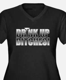 Drink Up Bitches!.png Women's Plus Size V-Neck Dar