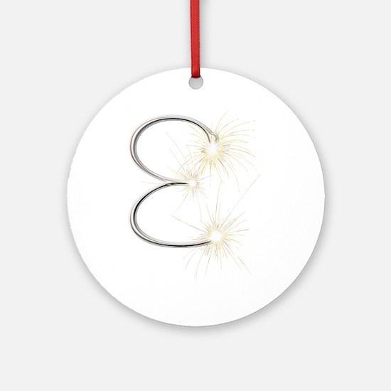 E Spark Round Ornament