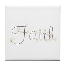 Faith Spark Tile Coaster