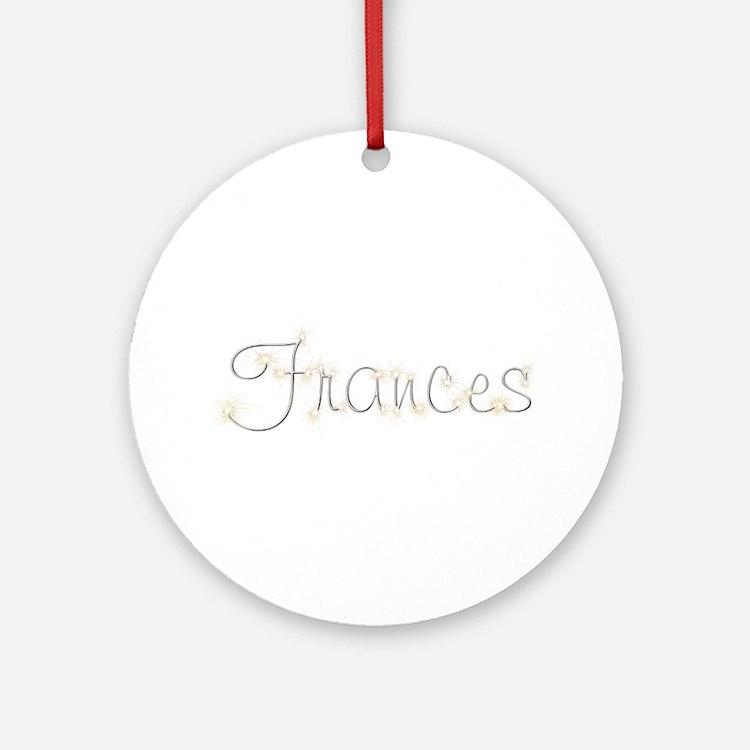 Frances Spark Round Ornament