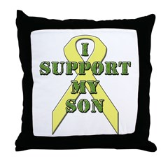 I Support My Son Throw Pillow