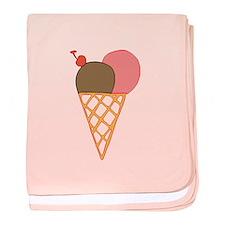 ice cream cone baby blanket
