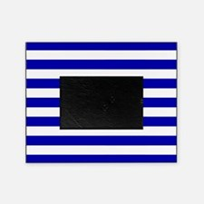 Navy Blue and White Sailor stripes Picture Frame