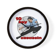 10 Key Assassin Wall Clock