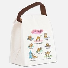 CAT YOGA POSES Canvas Lunch Bag